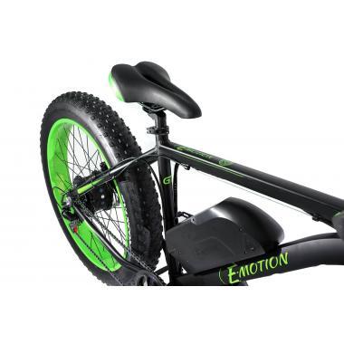 Электровелосипед E-motion Fatbike GT 48v 17,5Ah 1000W c гидравлическими тормозами чёрно-зелёный