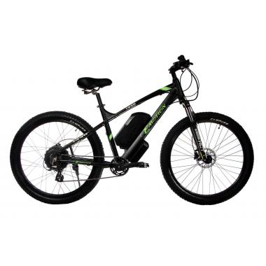 "Электровелосипед E-motion 48V 17,5Ah 700W / алюминиевая рама 19"" чёрно-зелёный"