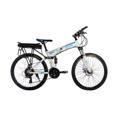 """Электровелосипед складной E-motion 36V 12Ah 500W / алюминиевая рама 17"""" бело-голубой"""