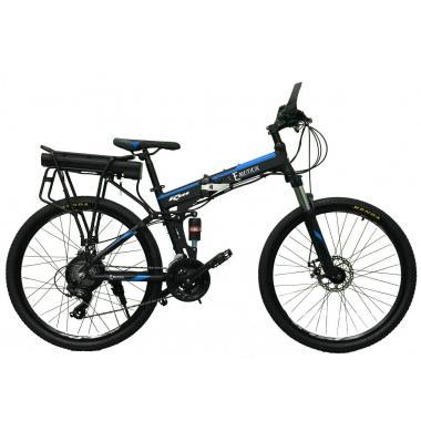 """Электровелосипед складной E-motion 36V 12Ah 500W / алюминиевая рама 17"""" черно-синий"""