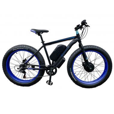 Электровелосипед передний привод E-MOTION FATBIKE GT 48V 16AH 750W FRONT чёрно-синий
