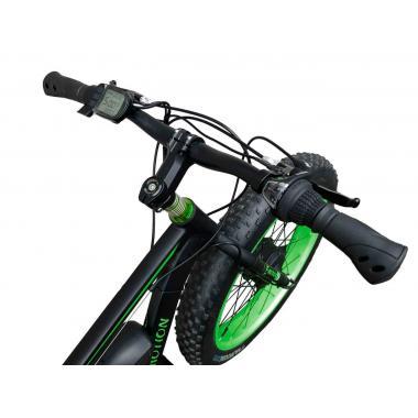Электровелосипед передний привод E-MOTION FATBIKE GT 48V 16AH 750W FRONT чёрно-зелёный