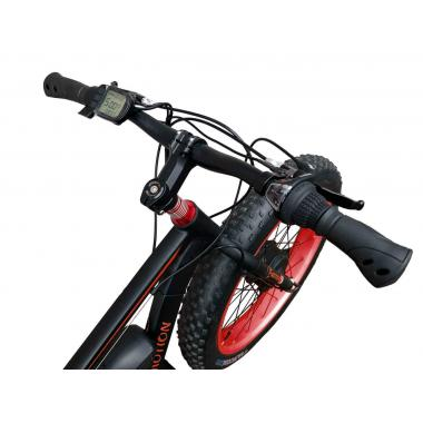 Электровелосипед передний привод E-MOTION FATBIKE GT 48V 16AH 750W FRONT чёрно-красный