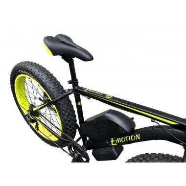 Электровелосипед передний привод E-MOTION FATBIKE GT 48V 16AH 750W FRONT чёрно-жёлтый