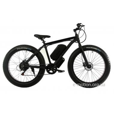 Электровелосипед E-motion Fatbike GT 48V 16Ah 1000W чёрный матовый