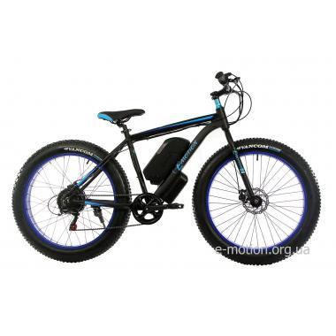 Электровелосипед E-motion Fatbike GT 48V 16Ah 1000W чёрно-синий