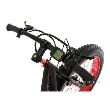 Электровелосипед E-motion Fatbike GT 48V 16Ah 1000W чёрно-красный