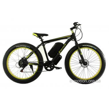 Электровелосипед E-motion Fatbike GT 48V 16Ah 1000W чёрно-жёлтый