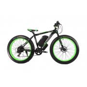 Электрофэтбайк E-motion Fatbike 48V 1000 Вт черно-зеленый