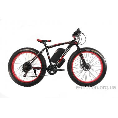 Электрофэтбайк E-motion Fatbike 48V 1000 Вт черно-красный