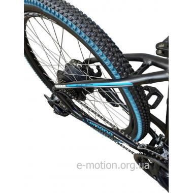 """Электровелосипед MAKE 36V 12Ah 500W рама 17""""/ 26"""" чёрно-синий"""