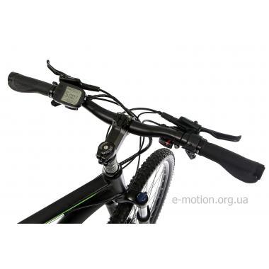 """Электровелосипед E-motion MTB27,5 GT 36V 12Ah 500W / рама 19"""" чёрно-зелёный"""