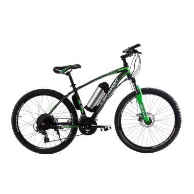 """Электровелосипед Kerambit 26"""" 17"""" 36V 10Ah 500W чёрно-зелёный"""