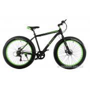 "Велосипед E-motion Fatbike GT 26"" / рама 19"" чёрно-зелёный"