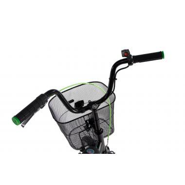 """Складной электровелосипед Formula Smart передний привод с заниженной рамой 24"""" 15"""" черно-зеленый"""