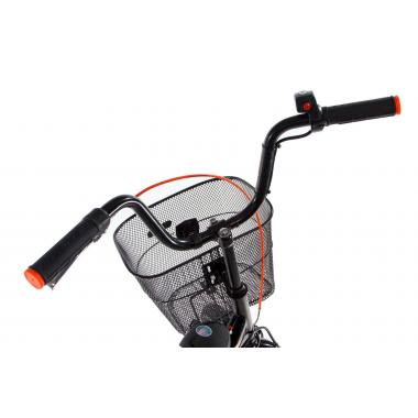 """Складной электровелосипед Formula Smart передний привод с заниженной рамой 24"""" 15"""" черно-серый"""