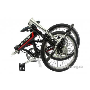 """Велосипед складной Make bike 20"""" / рама 17"""" чёрно-красный"""