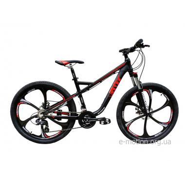 """Велосипед RIOT на литых дисках 26"""" / рама 18"""" чёрно-красный"""