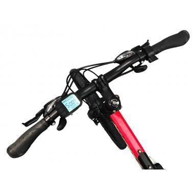 """Электровелосипед складной МАКЕ 36V 12Ah 500W 26"""", рама 17"""" чёрно-красный."""