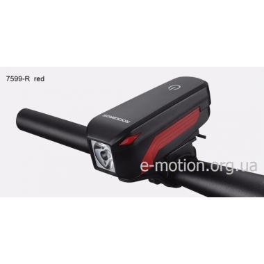 Водонепроницаемая LED фара для велосипеда с встроенным сигналом