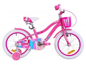 """Велосипед 16"""" Formula CREAM 14G Al с крылом St, с корзиной Pl 2019 (розовый с голубым)"""