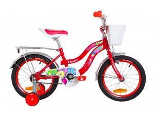 """Велосипед 16"""" Formula FLOWER 14G St с багажником зад St, с крылом St 2019 (красный)"""