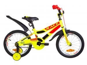 """Велосипед 16"""" Formula RACE усилен. St с крылом Pl 2019 (желто-оранжевый)"""