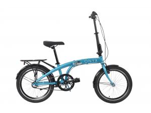 """Велосипед 20"""" Dorozhnik ONYX планет. складной 2020 (синий)"""