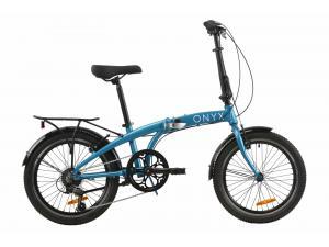 """Велосипед 20"""" Dorozhnik ONYX складной 2020 (синий)"""