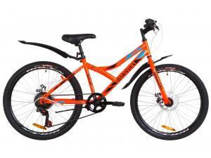 """Велосипед 24"""" Discovery FLINT 14G DD St с крылом Pl 2019 (оранжевый)"""