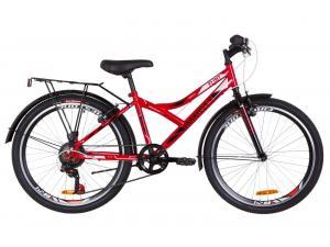 """Велосипед 24"""" Discovery FLINT 14G Vbr St с крылом Pl 2019 (красно-белый с черным)"""