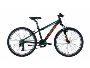 """Велосипед 24"""" Leon JUNIOR AM 14G Vbr Al 2019 черно-красный с синим"""