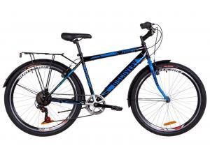 "Велосипед 26"" Discovery PRESTIGE MAN 14G Vbr St с багажником зад St, с крылом St 2019 (черно-синий)"
