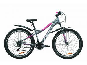 """Велосипед 26"""" Formula ELECTRA 15 2020 антрацитово-белый с розовым (м)"""