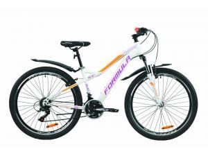 """Велосипед 26"""" Formula ELECTRA 15 2020 бело-фиолетовый с оранжевым (м)"""