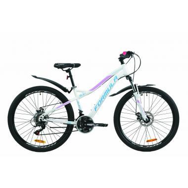 """Велосипед 26"""" Formula ELECTRA DD15 2020 бело-голубой с сиреневым"""