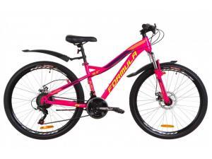 """Велосипед 26"""" Formula ELECTRA AM 14G DD St с крылом Pl 2019 малиновый с салатным"""