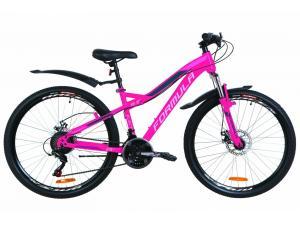 """Велосипед 26"""" Formula ELECTRA AM 14G DD St с крылом Pl 2019 розовый"""