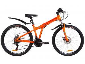 """Велосипед 26"""" Formula HUMMER AM 14G DD St с крылом Pl 2019 (оранжево-бирюзовый)"""