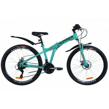 """Велосипед 26"""" Formula HUMMER AM 14G DD St с крылом Pl 2019 (синий с оранжевым)"""
